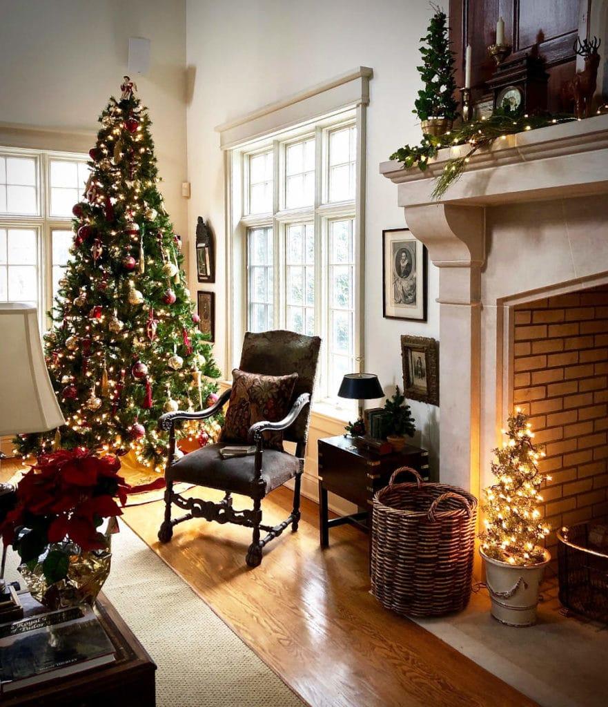 Abeto de Navidad y Árbol de Navidad en Casa